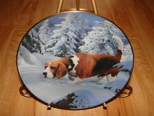 Beagles Dog Beagle Dog Puppy Simon Menez Danbury Mint On the Trail Dog Plate