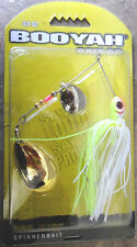 Booyah Hotwire Spinnerbait - 3/8oz - White/Chartreuse, Bass Cod Perch Lure