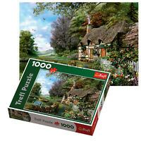 Trefl 1000 Piece Adult Large Charming Nook Cottage House Floor Jigsaw Puzzle NEW