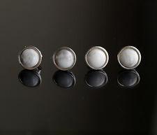 925 argento Sterling orecchini a perno con Bianco Howlite Gemstone Cabochon