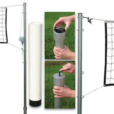 Outdoor Volleyball Set 1 (Steel Top Cable Net - PVC Ground Sleeves/No Cap)