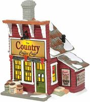 Country Coffee Cafe Dept 56 6006977 Country Living Village Christmas shop snow Z