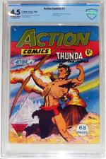 CBCS 4.5~ACTION COMICS #1~THUNDA #1~FRAZETTA~1958~SCARCE UK EDITION~AYERS~POWELL
