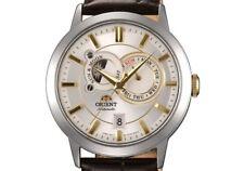 NEW $350 Orient Men's Classic Date Leather Automatic Sun & Moon Watch ET0P004W