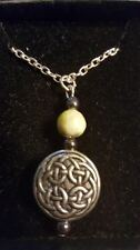 Welsh Celtic Pewter handmade Connemara Necklace has 18 in chain