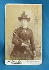 Victorian CDV Photo Carte De Visite Attractive Young Lady By W Wright London