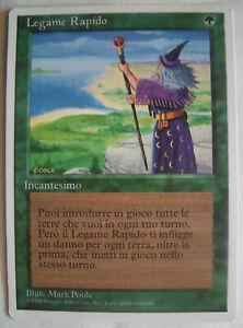 FASTBOND Revised Italian WB MTG Magic the Gathering NM Rare Card