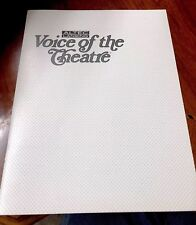 Altec Lansing Voice Of The Theatre Catalog Mid 80's With Cinema Sub Surrounds