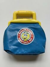 Vintage Sesame Street Big Bird Toy Medical First Aid Kit Doctors Bag Kit Retro
