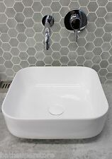 VANITY Counter Top WHITE Thin Feather Edge Ceramic Basin Bowl 395 x 395mm SQUARE