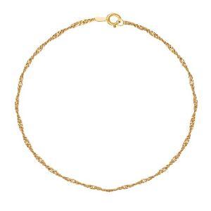 10K Gold Singapore Anklet Ankle Bracelet (Yellow Gold  Or White Gold)
