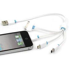 4en1 Multi Cargador Cable USB para iPhone,Samsung Galaxy,HTC, Nokia,LG,SONY ETC