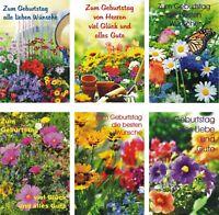 100 Glückwunschkarten zum Geburtstag Blumen 51-5304 Geburtstagskarte Grußkarte