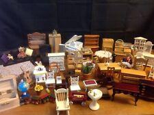 dollhouse miniatures vintage furniture lot