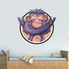 Full Color Wall Decal Sticker Monkey Ape Kids Wall Hole Hip Hop Cartoon Col738