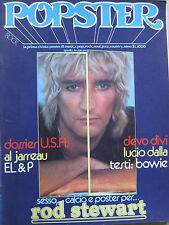 POPSTER 22 1979 Rod Stewart Lucio Dalla Devo David Bowie Al Jarreau Oldfield ELP