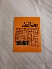 The Beach Boys Brian Wilson That Lucky Old Sun Tour Vip Laminated Backstage Pass