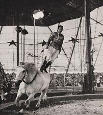 1940's Vintage 16x20 CIRCUS Horse Bareback Stunt Rider Equestrian Ringling Bros.