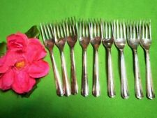 VINTAGE CAKE FORKS X9 SILVER PLATED NSWG STAMP GROSVENOR DELPHIC MORE AVAILABLE