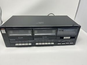Classic 80s Sanyo Stereo Dual Cassette Deck model RD W41 Tested Working