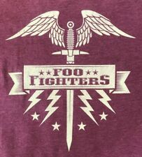 New! Foo Fighters Original Flying Sword Burgundy Concert T-Shirt Dave Grohl 2Xl