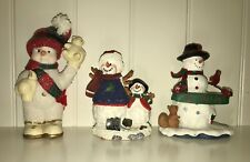 3 Snowman Figurines - full of charm and character!