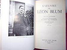 Léon Blum L'ŒUVRE DE LÉON BLUM. 1905-1914