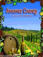 Sonoma Valley County California Wine United States Travel Advertisement Poster