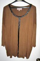 Ladies plus sz brown top by PHILOSOPHY Woman  sz 3X