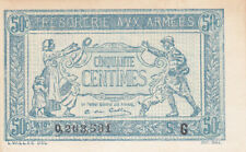 50 CENTIMES VF BANKNOTE FROM FRENCH ARMY/TRESORERIE AUX ARMEES 1917 PICK-M1