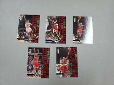 1995-96 Michael Jordan UD Collectors Choice 5 Card Insert Set
