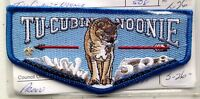 TU CUBIN NOONIE OA LODGE 508 SERVICE FLAP SCOUT PATCH MINT RARE BLUE BORDER