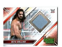 WWE Seth Rollins 2019 Topps Raw Event Used Money In The Bank Mat Relic Card