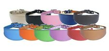 Handmade Greyhound Whippet Collar Real Leather Dog Collar Padded Backing PLAIN