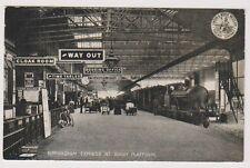 Warwickshire postcard - Birmingham Express at Rugby Platform - L&NW