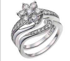 H SAMUEL 1CT DIAMOND WHITE GOLD PERFECT FIT BRIDAL SET SIZE T STUNNING RRP £2199