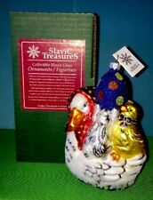 Slavic Treasure Goose Party Bunny, Duck Glass Ornament Easter Collection New