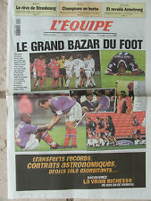 L'Equipe du 25/4/2000 - Le grand bazar du foot français - Basket : Strasbourg
