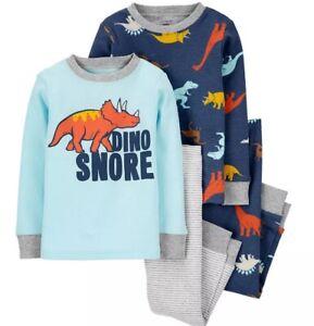 "mult 3 pc set 18 Carters SW sleep wear NWT boys /""dino-snore/"" sizes"