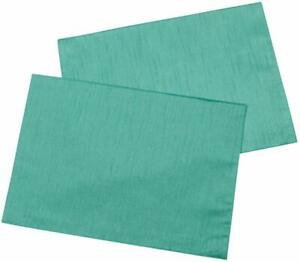 Casual Dining 13 x 18-inch Faux Silk Placemats, Pack of 4, Teal