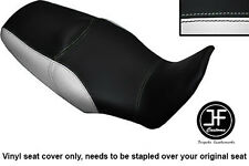 BLACK & WHITE VINYL CUSTOM FITS HONDA XL 1000 V VARADERO 08-13 DUAL SEAT COVER