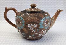Antique Royal Doulton Lambeth Slaters 2 Pint Teapot 1880's Excellent