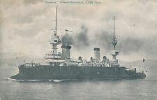 POSTCARD    SHIPS    MASSENA   French  Battleship