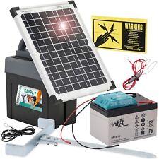 mit 80 Ah Akku SOLAR Weidezaungerät ecoPOWER1000-12 Volt 10 Watt Solarmodul
