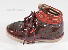 Noel Infant Girls Mini Arga Burgundy Leather Lace Shoes UK 5 EU 21 US 5.5 RRP£49