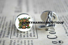 Glass Silver Plated Cufflinks for Men
