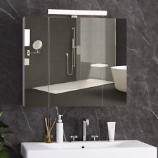 Spiegelschrank Badezimmerschrank mit 3 Türen Badspiegel 70x15x60 cm LED DICTAC®