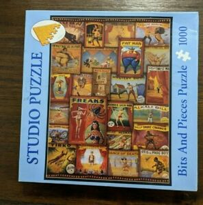 "Bits And Pieces 1000 pc Puzzle - Mervil Paylor Design ~ ""Sideshow Oddities"""