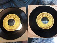 Carl Perkins Boppin' Blues+ Johnny Cash Original Sun 45 record #241 #363 elvis
