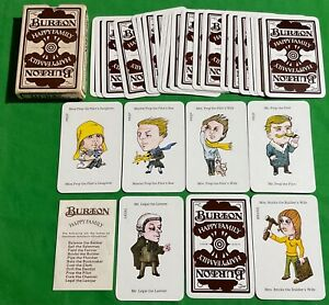 Old Vintage * BURTON HAPPY FAMILY * Pack Advertising Playing Cards Families Game